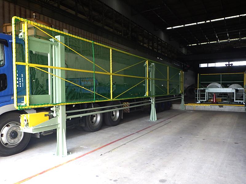 荷役業務における各種安全対策機器、安全作業台の設計・製作、クレーンの改造・補修・点検|大阪、大正区の大和電機工業の旋回式転落防止ネット