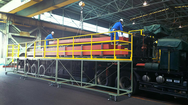 荷役業務における各種安全対策機器、安全作業台の設計・製作、クレーンの改造・補修・点検|大阪、大正区の大和電機工業の転落防止設備